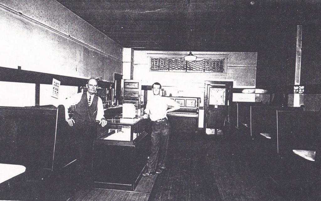 The Jasper Roderick Restaurant. Jasper and Bernard Roderick, circa 1930s.
