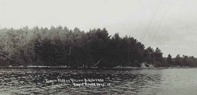 Gagen Hill on Yellow Birch Lake, Daniel Gagen's namesake.